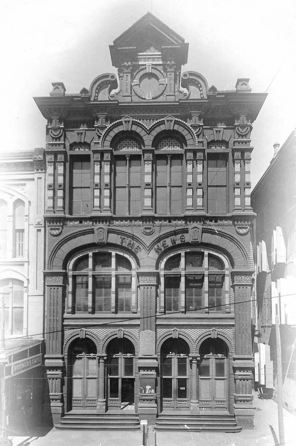 First Building Built Solely for a Newspaper in Galveston Texas