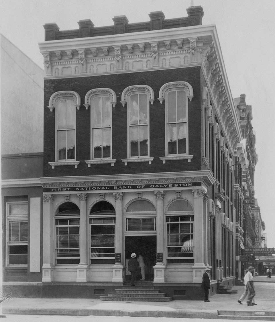 First National Bank in Galveston Texas