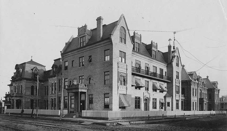 First Roman Catholic Hospital in Galveston Texas