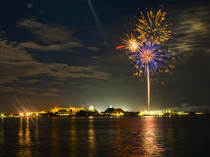 Fireworks Over Moody Gardens