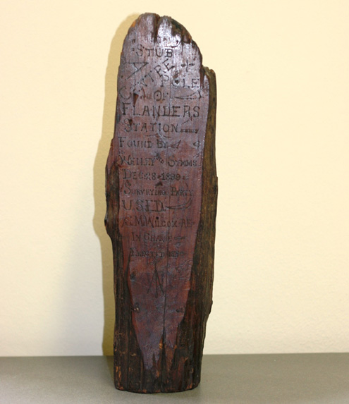 Engraved Cedar Post