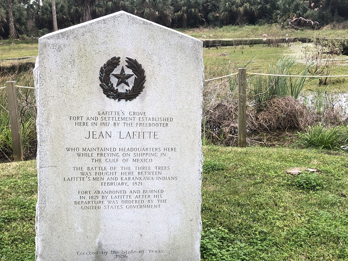 Lafittes Grove Historical Marker