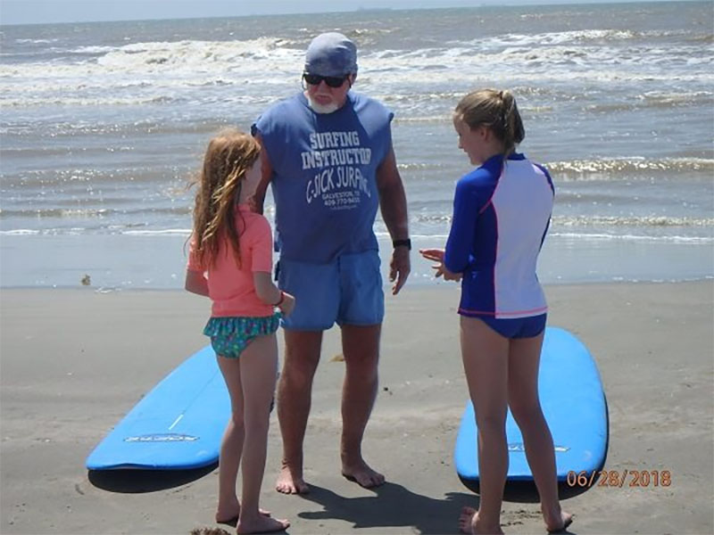 C-sick Surfing Lessons Kids on Beach