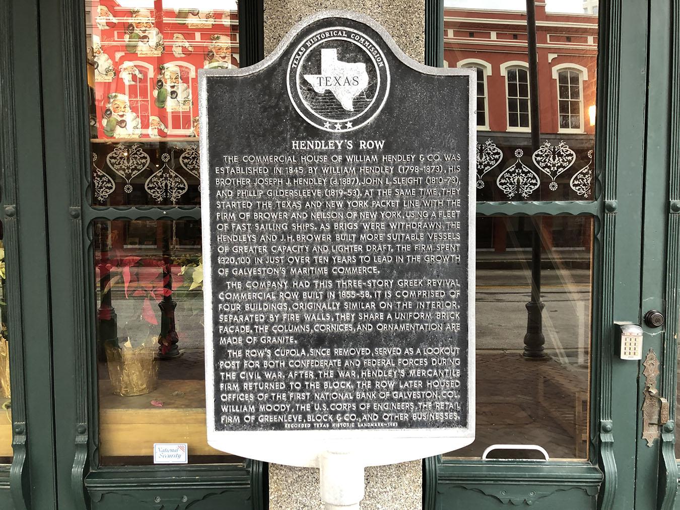 Hendley's Row Historical Marker