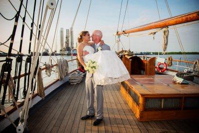 Wedding on Tall Ship Elissa
