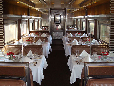 Galveston Railroad Museum Dining Car
