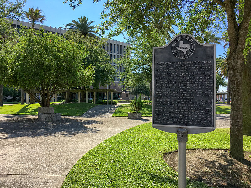 Galveston in the Republic of Texas Historical Marker