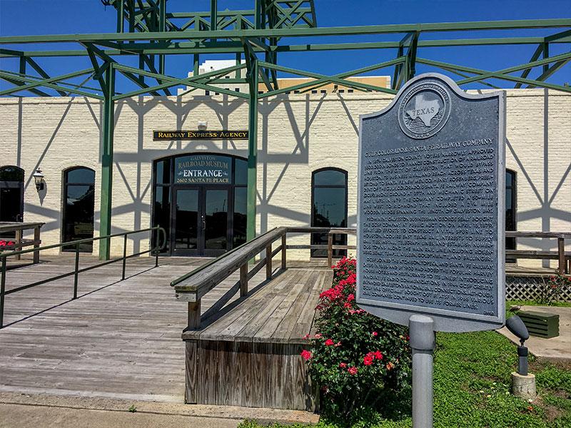 Gulf Colorado Santa Fe Railway Company Historical Marker