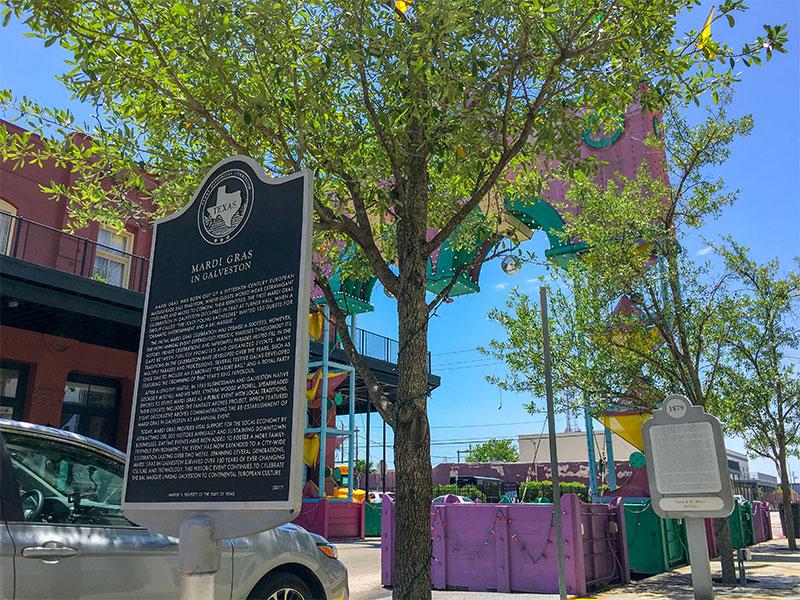 Mardi Gras in Galveston Historical Marker