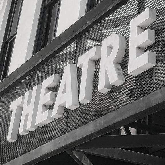 Island ETC theater sign, Galveston TX