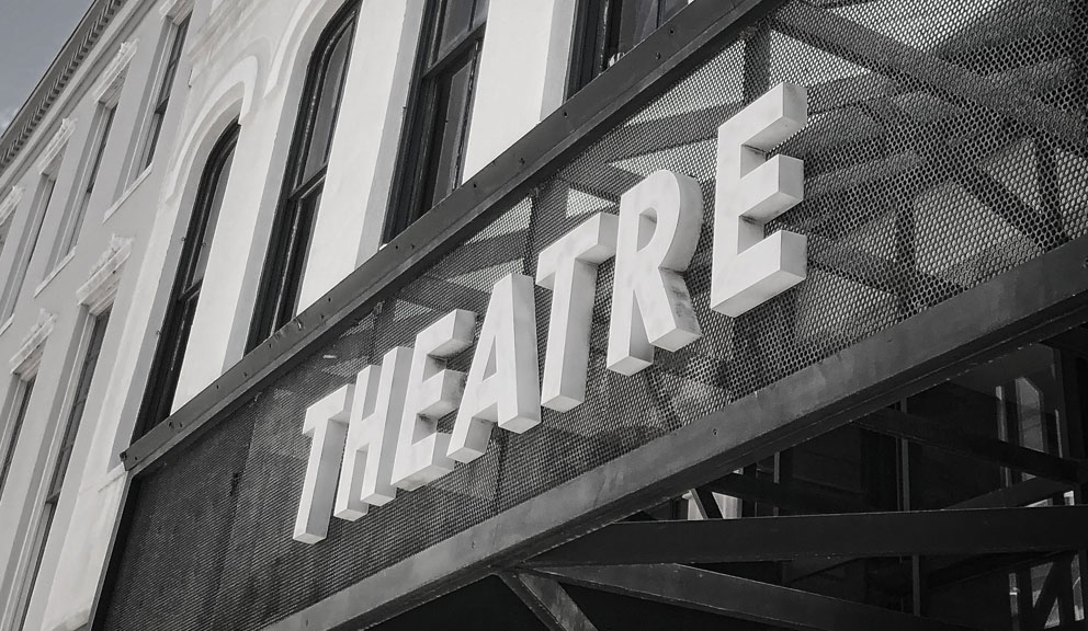Island ETC theater sign, Galveston, TX