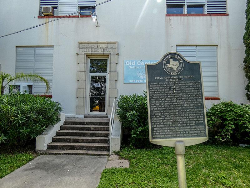 Public Education for Blacks in Galveston Historical Marker