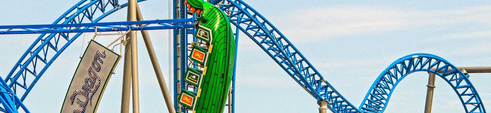 Thrills and Amusements - Pleasure Pier Roller Coaster