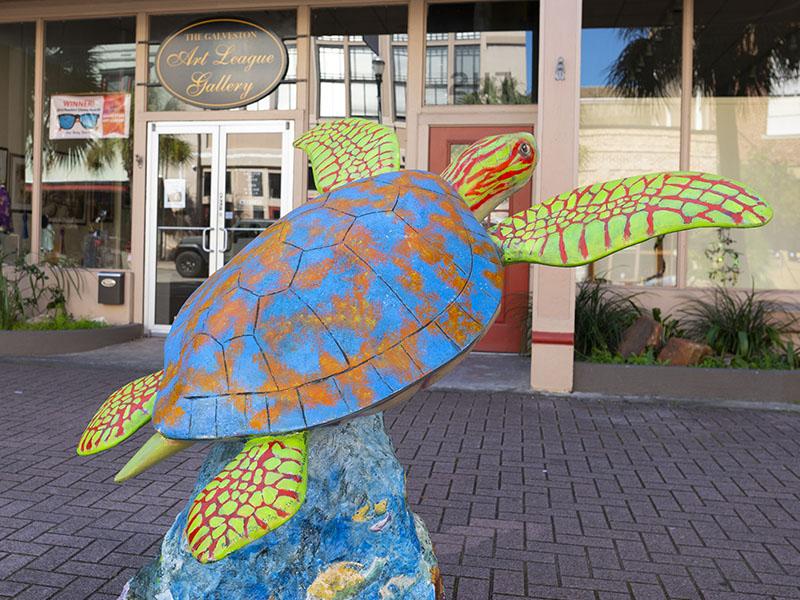 Turtles About Town at Galveston Art League - Sargasso Susan