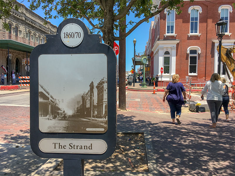 1860-70 The Strand Historical Marker