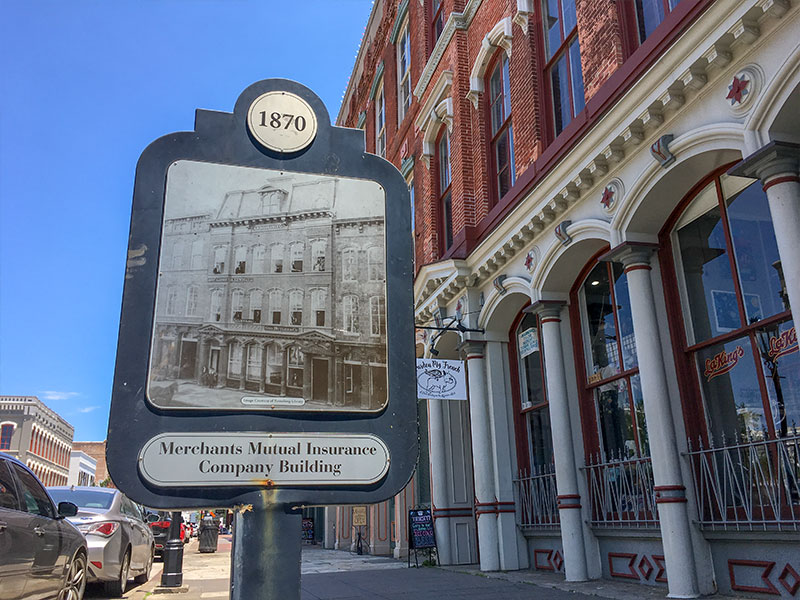 1870 Merchants Mutual Insurance Company Building Historical Marker