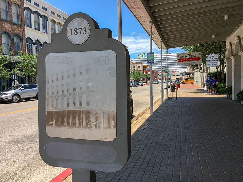 1873 Washinton Hotel Historical Marker