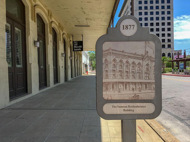 1877 Samson Heidenheimer Building Historical Marker