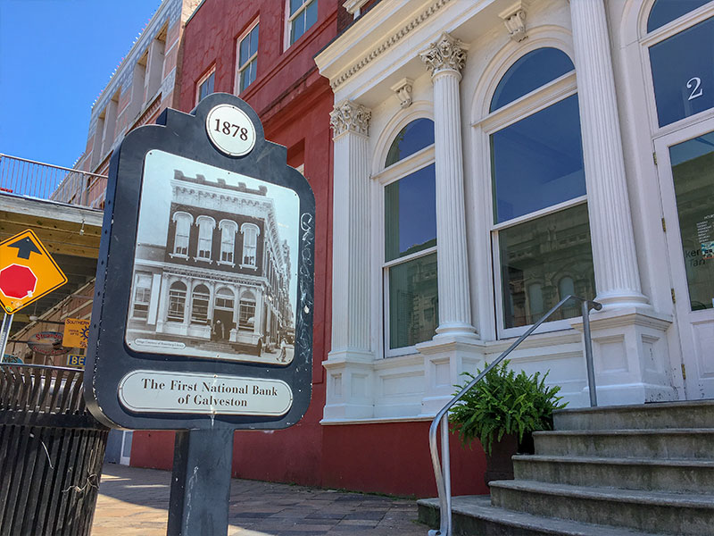 1878 The First National Bank of Galveston Historical Marker