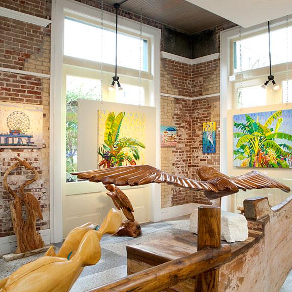 Interior View of a Postoffice Street Art Gallery, Galveston, TX