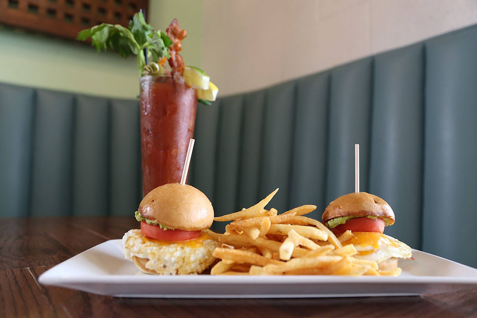 BLVD Bob Sandwich and Bloody Mary