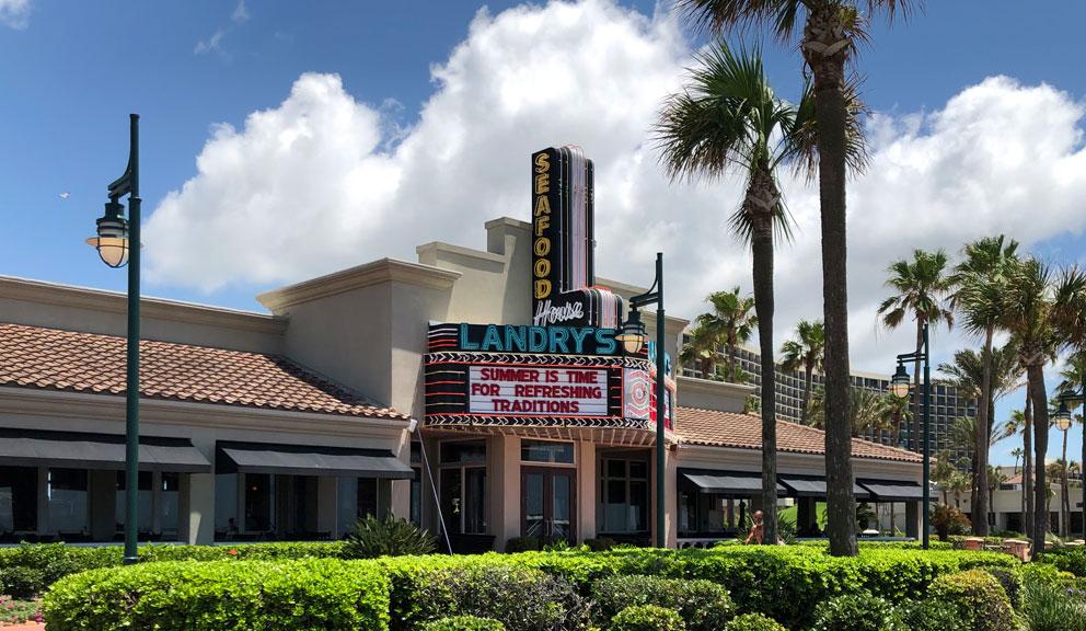 Landry's Seafood House, Galveston TX
