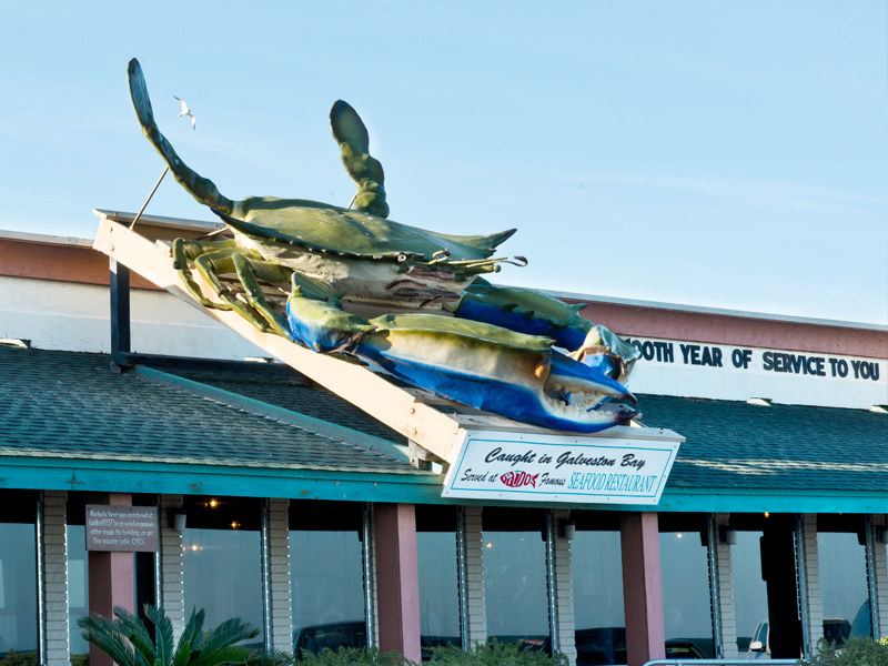 Exterior View of Gaido's Seafood Restaurant