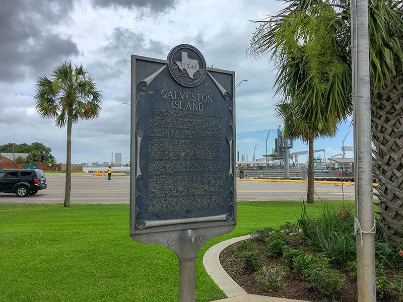 Galveston Island Historical Marker