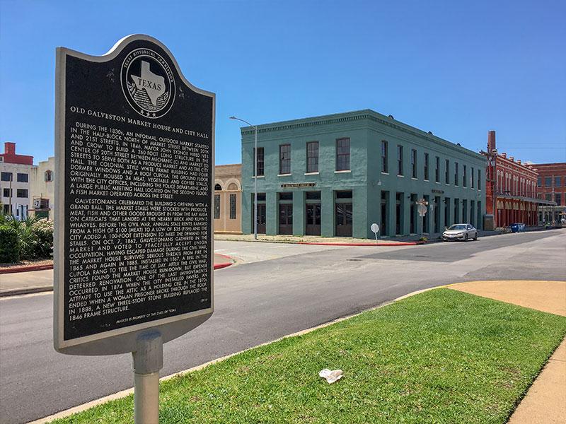 Old Galveston Market House and City Hall Historic Marker
