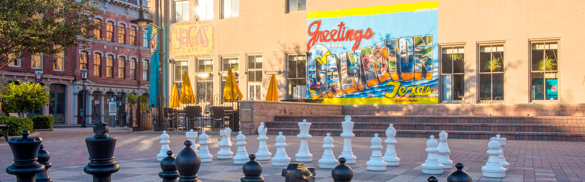 Saengerfest Park and the Giant Chess Board facing Yaga's