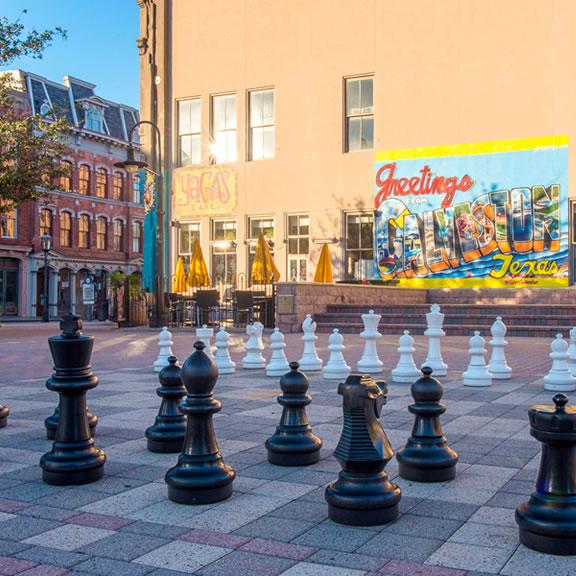 Saengerfest Park and the Giant Chess Board, Galveston TX