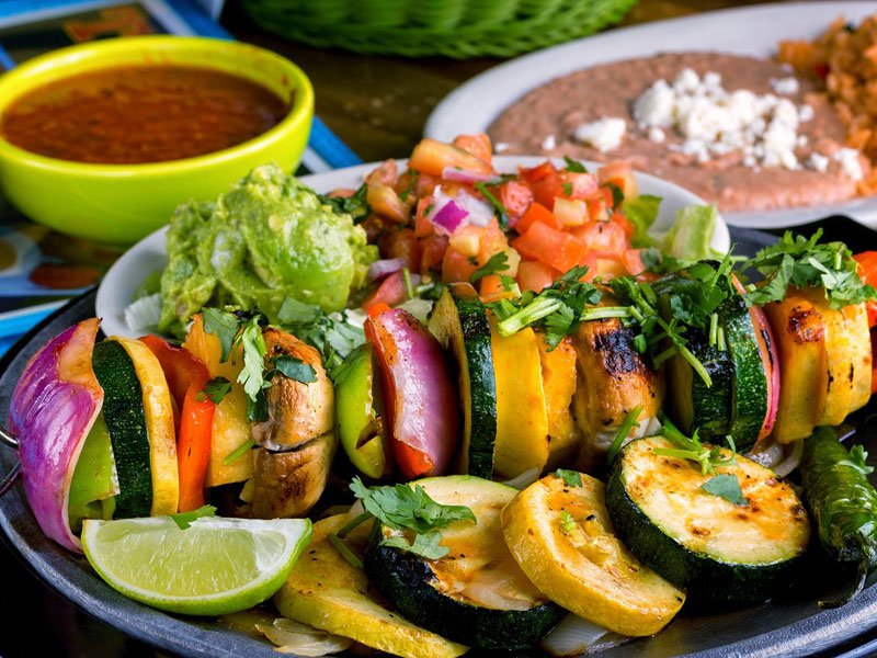 A Veggie-Lover's Meal at Taquilo's Tex-Mex Cantina