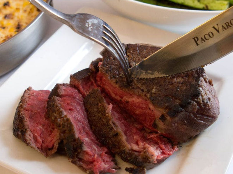 Steak Served at Vargas Cut and Catch by Paco