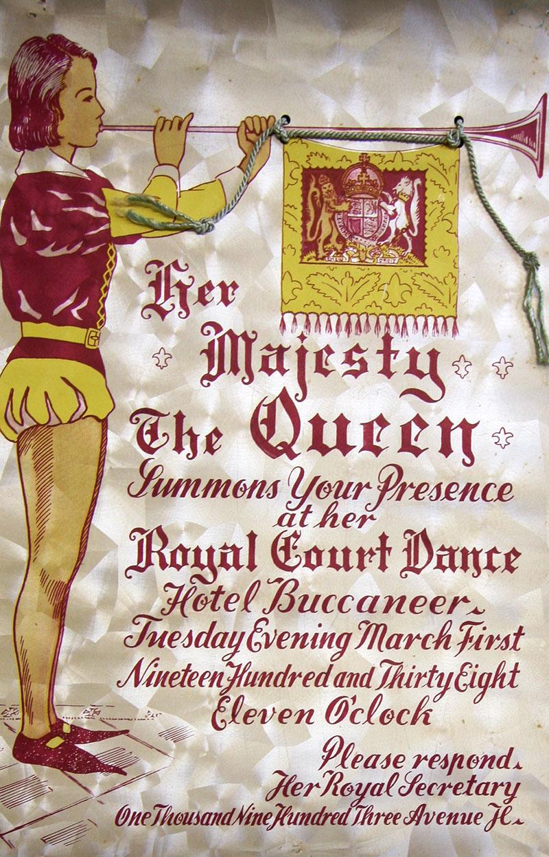 1938 Galveston Mardi Gras Invitation