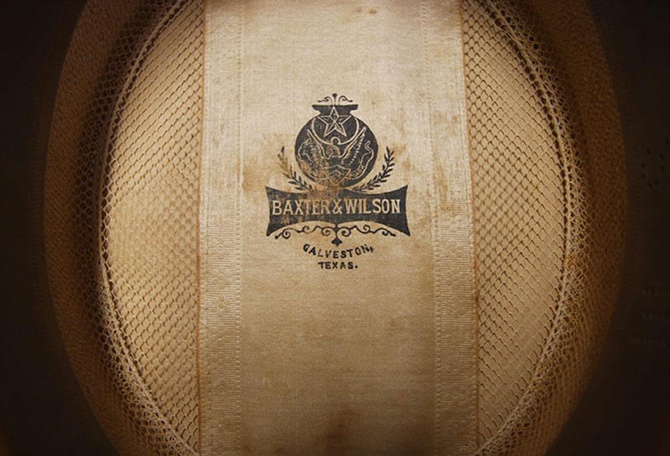 Baxter & Wilson Retail Label Inside Hat