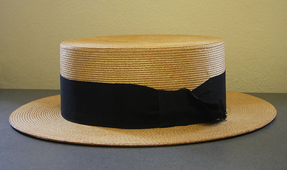 Straw Boater Hat from Baxter & Wilson in Galveston
