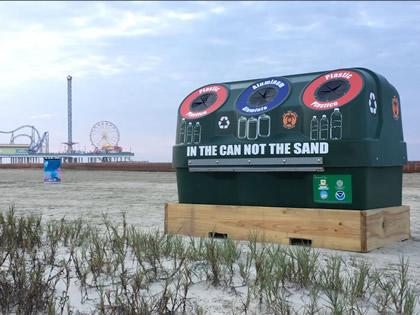 Galveston Beach Recycler