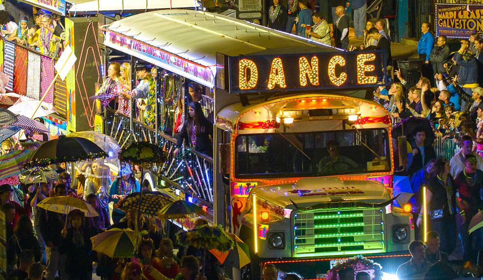 Mardi Gras Parade Along The Strand, Galveston, TX