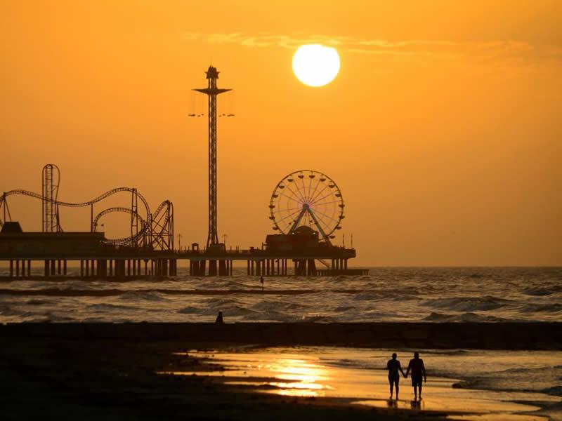 Pleasure Pier at Sunrise