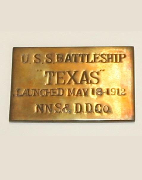 USS Texas-plaque