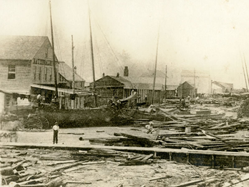Aftermath of 1867 Storm