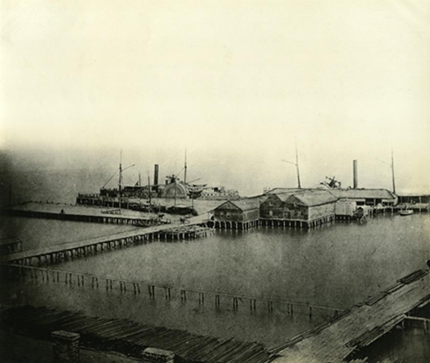 Central Wharf, 1861