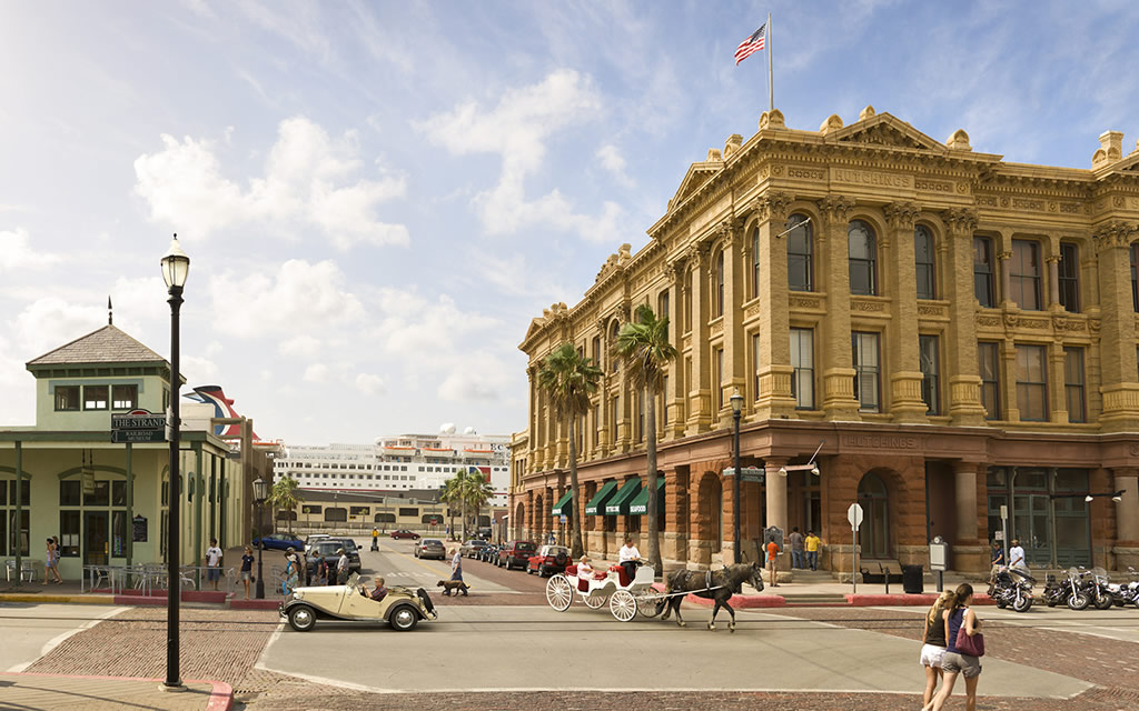 The Strand in Downtown Galveston