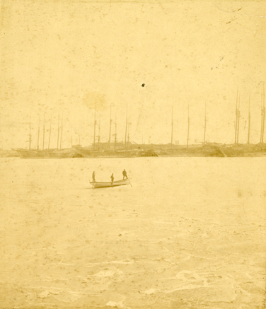 Frozen Galveston Bay, 1886