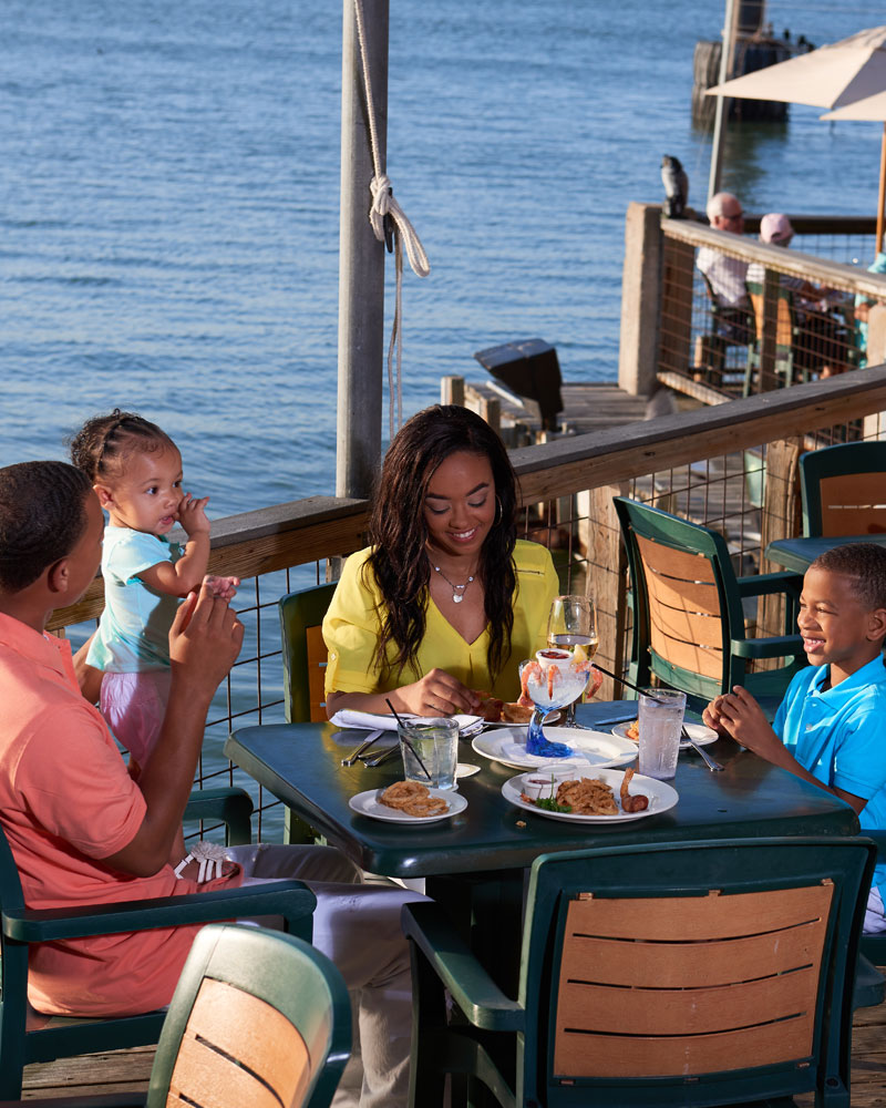 Family Dining Out at a Restuarant
