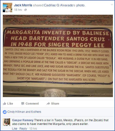 Official Margarita Plaque