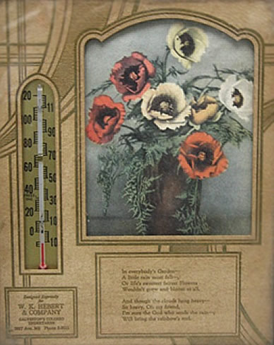 W.K. Hebert Thermometer