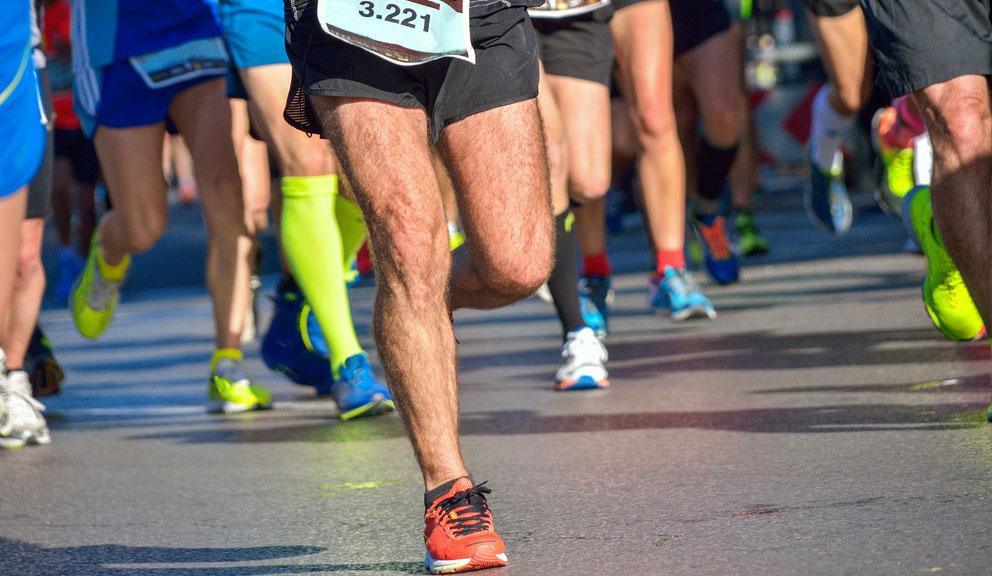 Runners Participating in a Marathon, Galveston TX