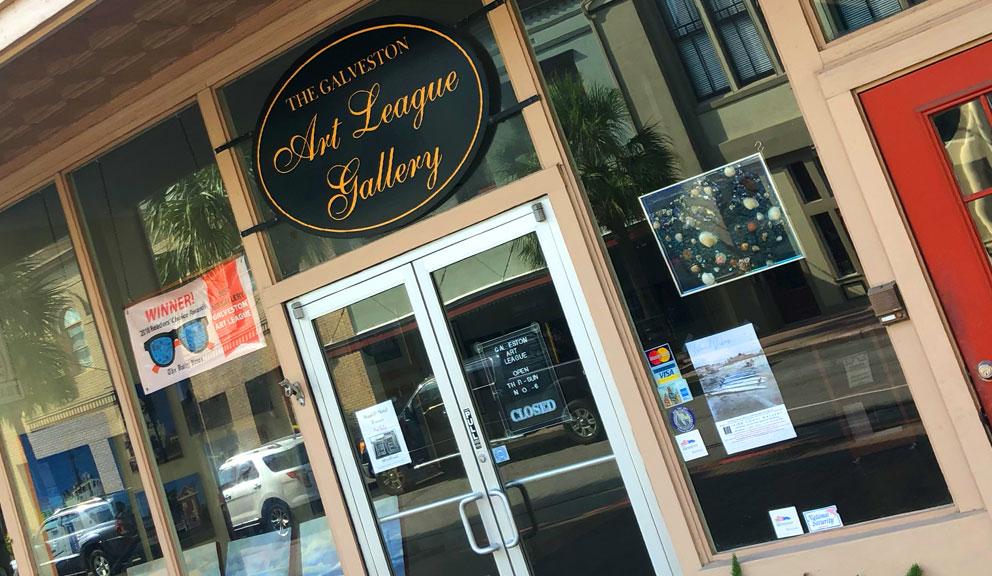 Postoffice Street Entrance to Galveston Art League, Galveston TX