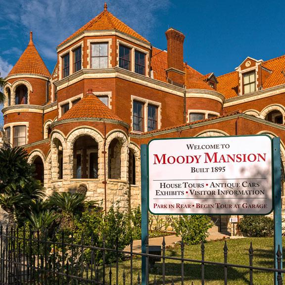 Moody Mansion Exterior, Galveston TX